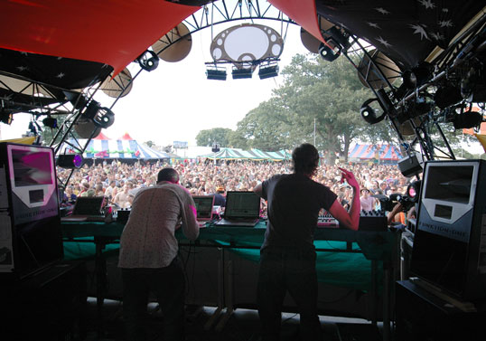 Resolution 2s as DJ monitors at Glade 08