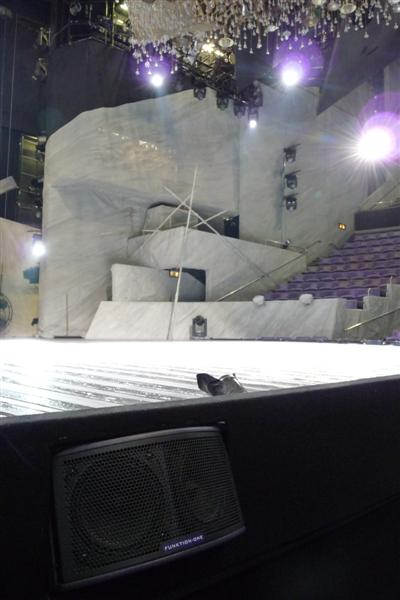 F55 Voice System Front Fill for Frankenstein at the National Theatre