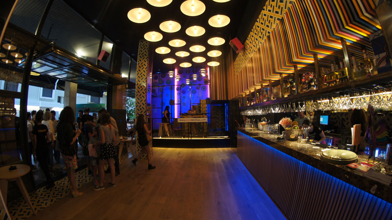 F81 speakers installed into bar La Lupita - Ibiza