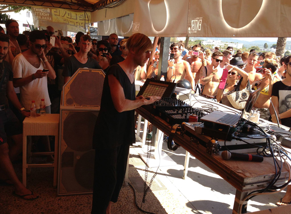 Richie Hawtin using the PSM318 DJ Monitors at Space, Ibiza in 2013