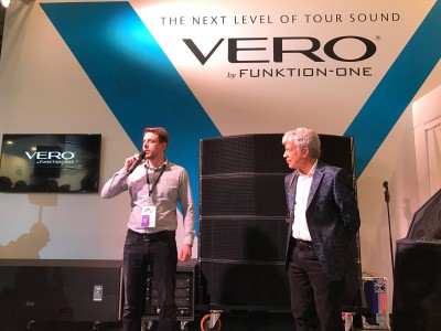 Think! AV's Remco van der Werff with Funktion-One's Tony Andrews 2