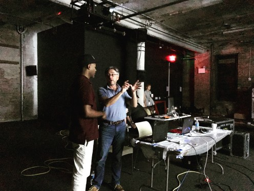 Kahlil and Gil during production at New Museum in New York